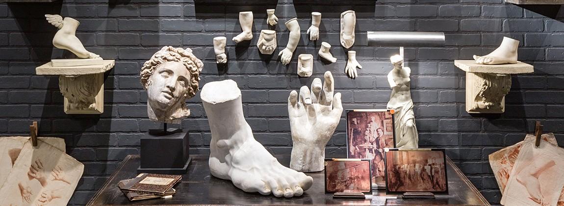Arteslonga Collection Art et Histoire, Statues, bustes, sculptures, corps et visages gréco romain antique