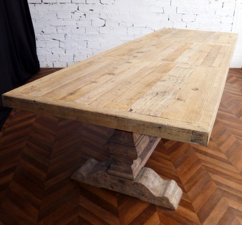 splendide table de ferme monastre en bois brut ancien