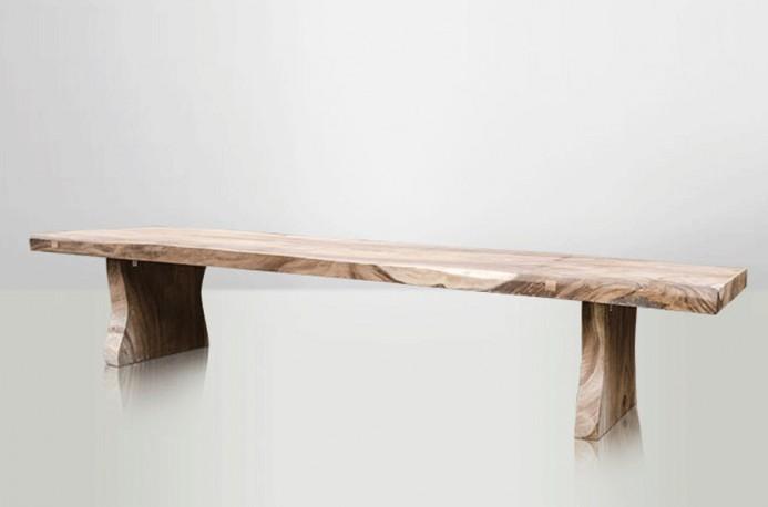 La Grande Table Dolmen en Bois Brut de Suar